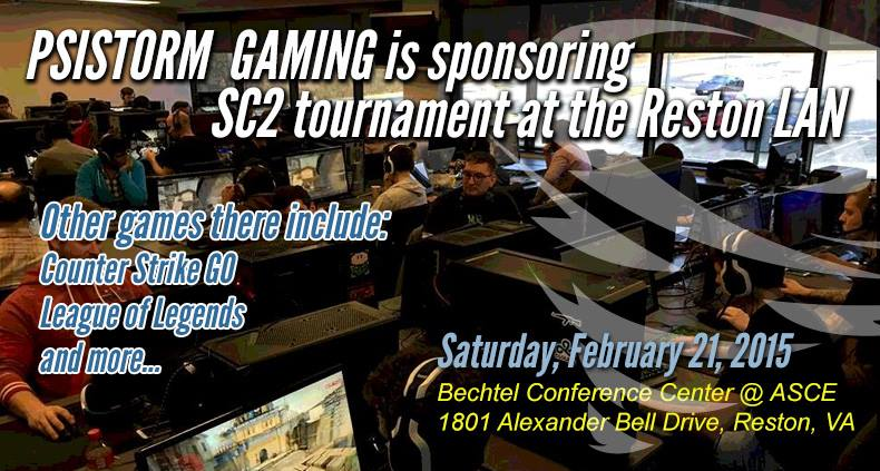 Reston LAN tournament: Starcraft, CSGO, Heroes of the Storm